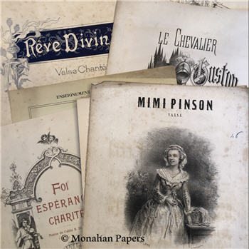 Antique Music Covers - French and English