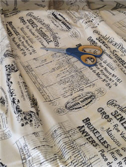 French Reciepts Fabric - FABFRE
