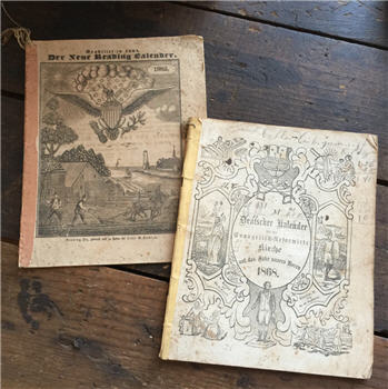 Antique German Almanacs