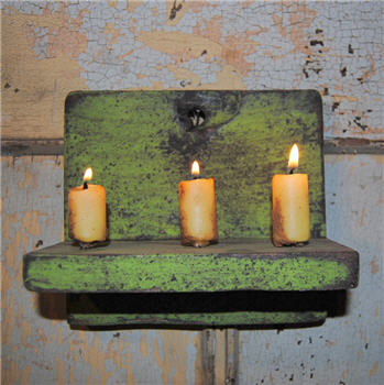 Green Chippy Hanging Candle Shelf