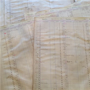 Antique Ledger Paper - EXTRA LARGE