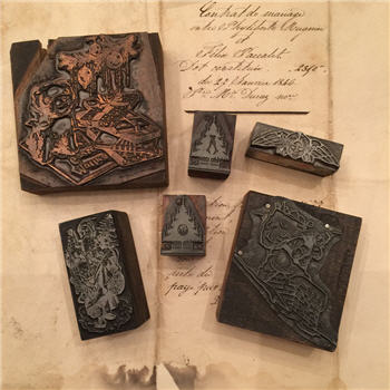 Christmas Letterpress Blocks - Antique