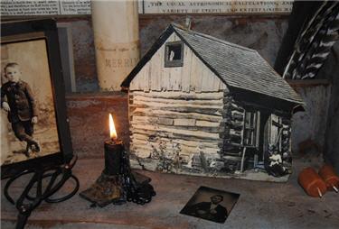 Log Cabin Cupboard Print