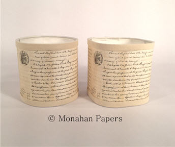 """French Script 6"""" Lamp Shades"""