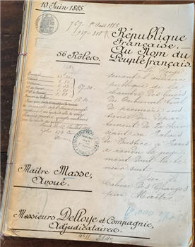 Antique French Document Pages