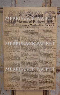 Merrimack Packet Paper Sheet