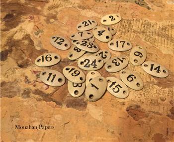 Mini Enamel Number Plates - Assorted