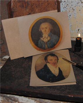Miniature Portrait Cards - Set/6 Asst.