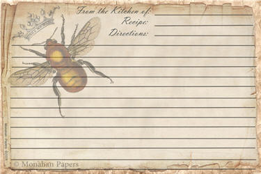 Queen Bee Recipe Cards