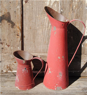 French Countryside Red Chippy Pitchers