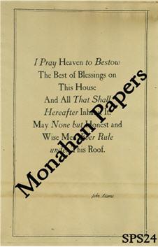 I Pray Heaven - John Adams