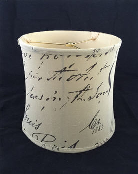 English Script Drum Lamp Shade - ESDLS