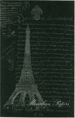 Script Eiffel Tower Black and White - SPS350