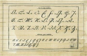 German Script Capitals - SPS47