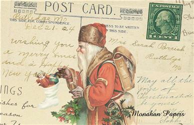 Postcard Santa - SPS707