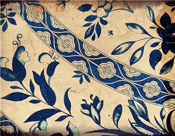 Blue Indigo Floral Curve - SPS823