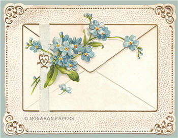 Blue Florals Envelope - SPS913