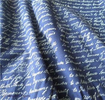 Indigo Script Fabric - SPS97IND