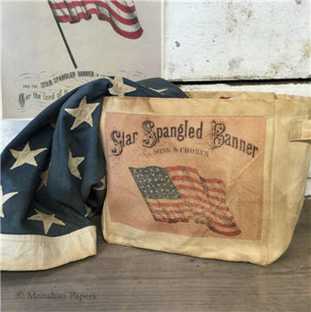 Star Spangled Banner Canvas Storage Tote - ID17CSBSM