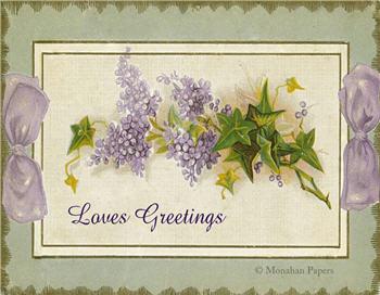 Loves Greetings  - V7
