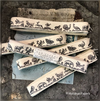 Woodcut Animal Ribbon - WCARIBB