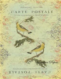 Carte Postale Double Yellow Birds - X108