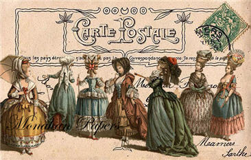 Carte Postale Fashion Card