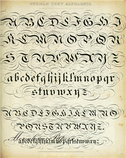 German Text Alphabets - X138