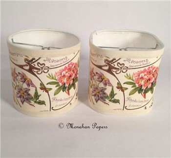 "French Floral 6"" Shades - X295"