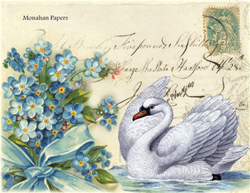 Blue Bouquet Swan - X308