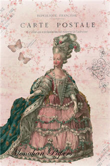 Lady in Pink Carte Postale - X72